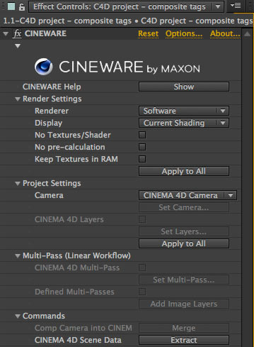 Cineware - After effects e Cinema 4D