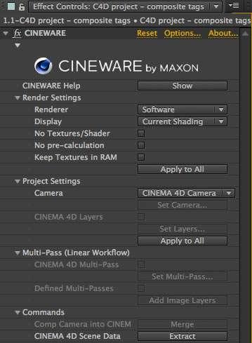 Cineware - After effects e Cinema 4D