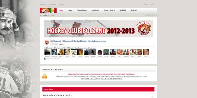 HCB Fans – sito web hockey Bolzano
