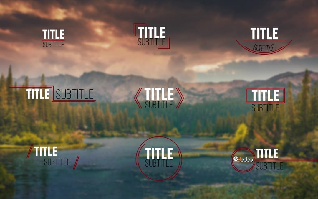 After Effects Template: 9 Titoli Moderni