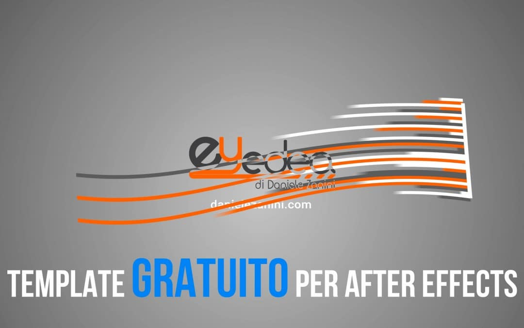 Template After Effects Gratuito: Logo Animato Curved Lines