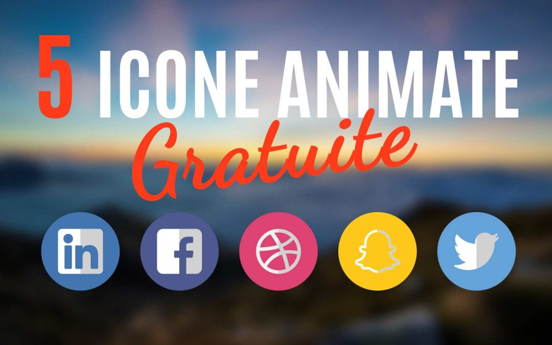 Template After Effects: 5 Icone Animate Gratuite
