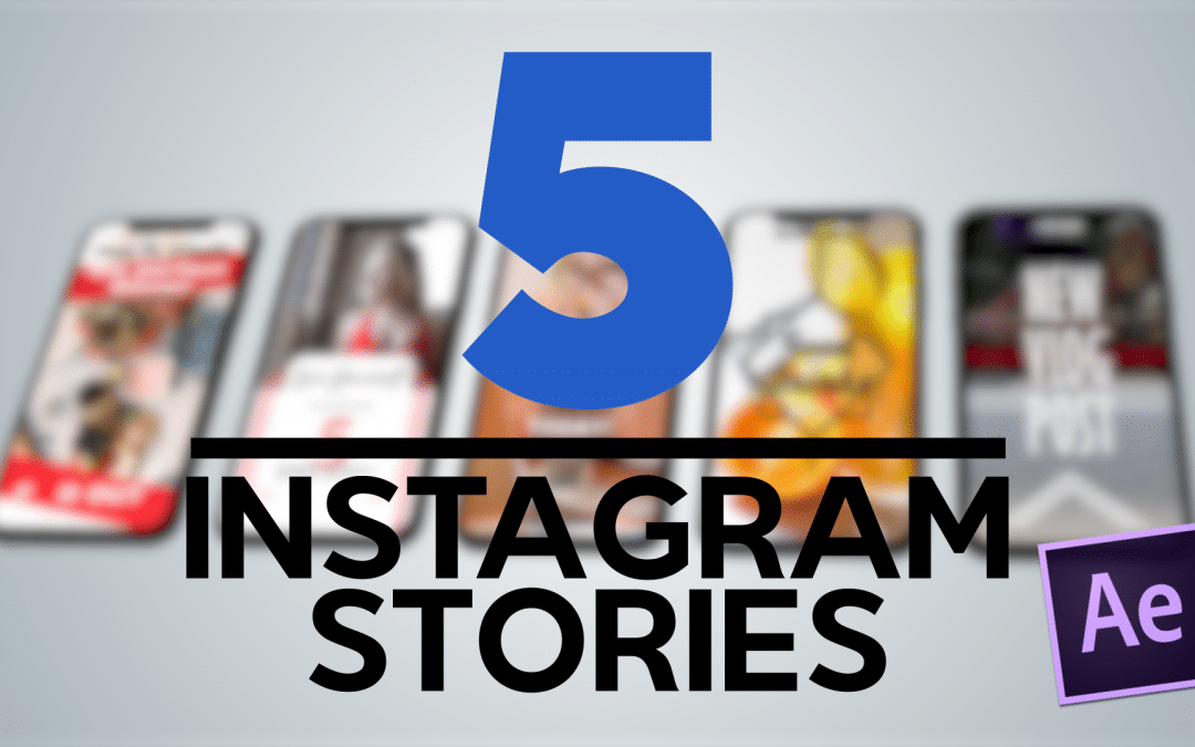 Template After Effects: 5 Instagram Stories gratuite