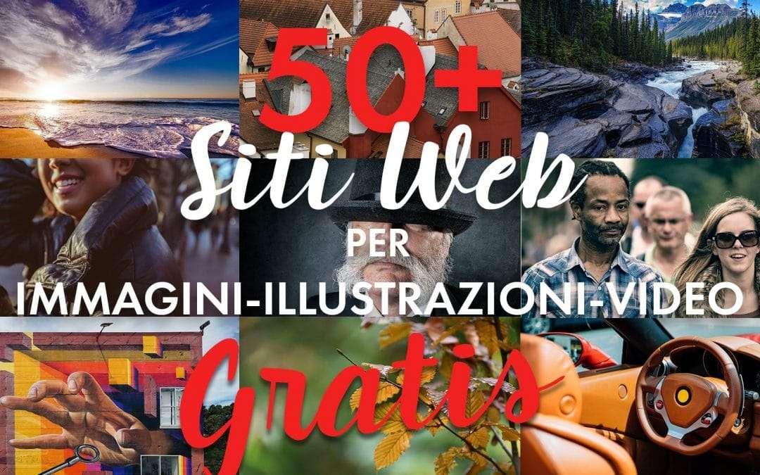 50+ siti web di foto, illlustrazioni e video gratuiti